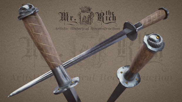 Medieval Rondel Dagger