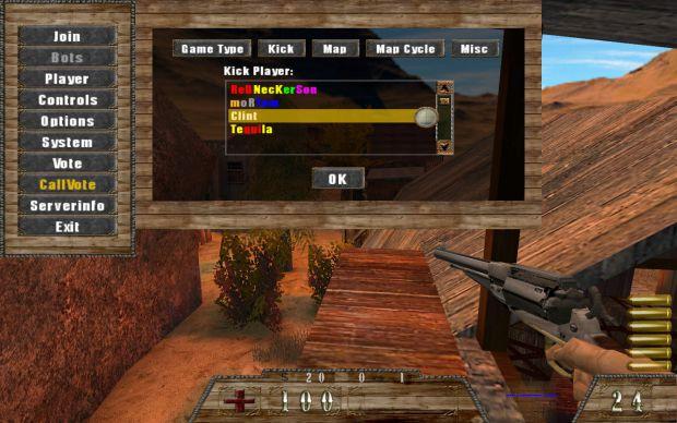 Enhanced kick player menu