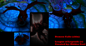 League Of Legends - Demon Galio (skin)