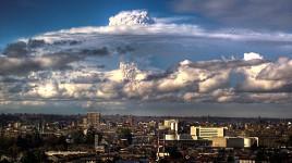 osorno durante la erupción de volcan puyehue