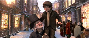 Scrooge and Tiny Tim. Merry Christmas!