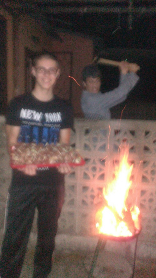 Food, fire, an axe and blur...