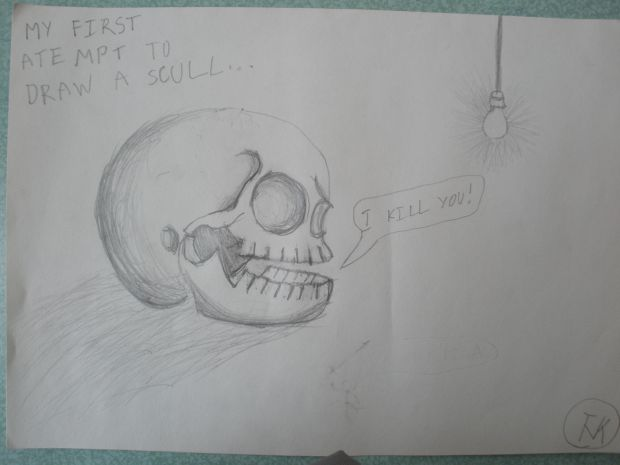 My first attempt to draw a scull.