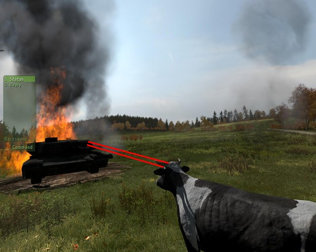 Little ArmA 2 cow WITH LASERS
