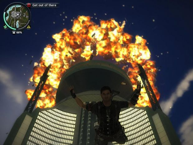 Big explosion in Just Cause 2