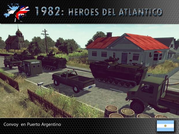 Convoy en Puerto Argentino