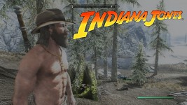 Indiana Jones Hat Rigged to Skyrim