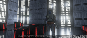 Jango Fett on the Death Star.
