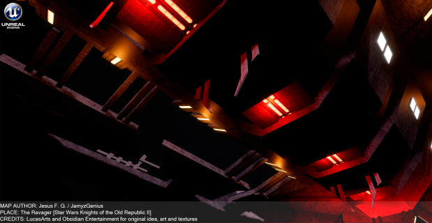 """Star Wars Knights of the Old Republic 2 """"The Ravager Observation Deck"""" in Unreal"""