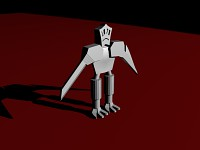 Sad bot with knives 3D