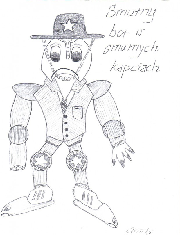 Sad Bot with Sad Slippers 2D