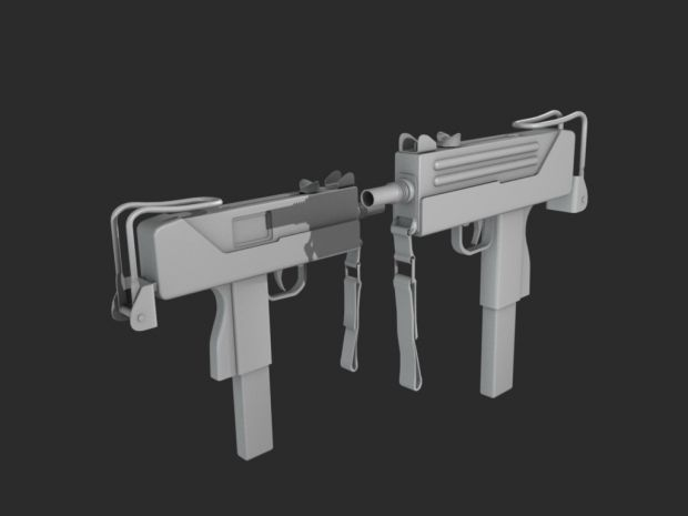 Mac-10 Render - Blender