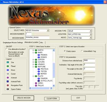 Nexus Skirmisher interface