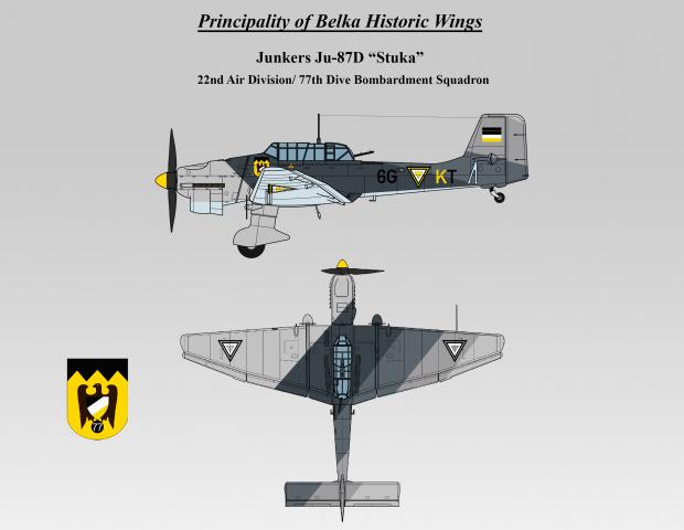 """BAF Ju-87D """"Stuka"""""""