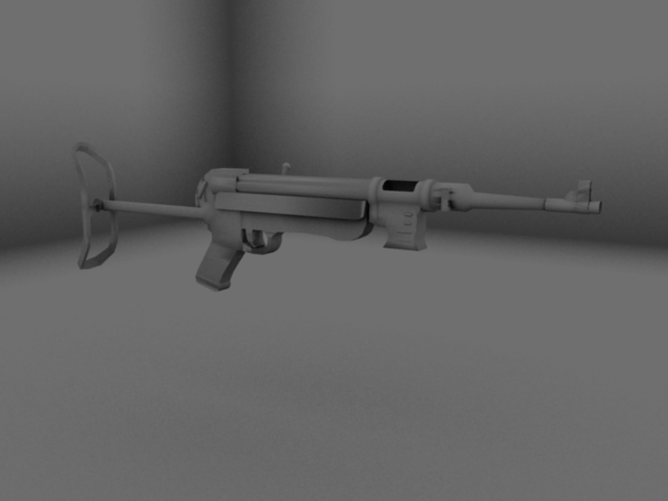 MP40 W.I.P. Render (Untextured)