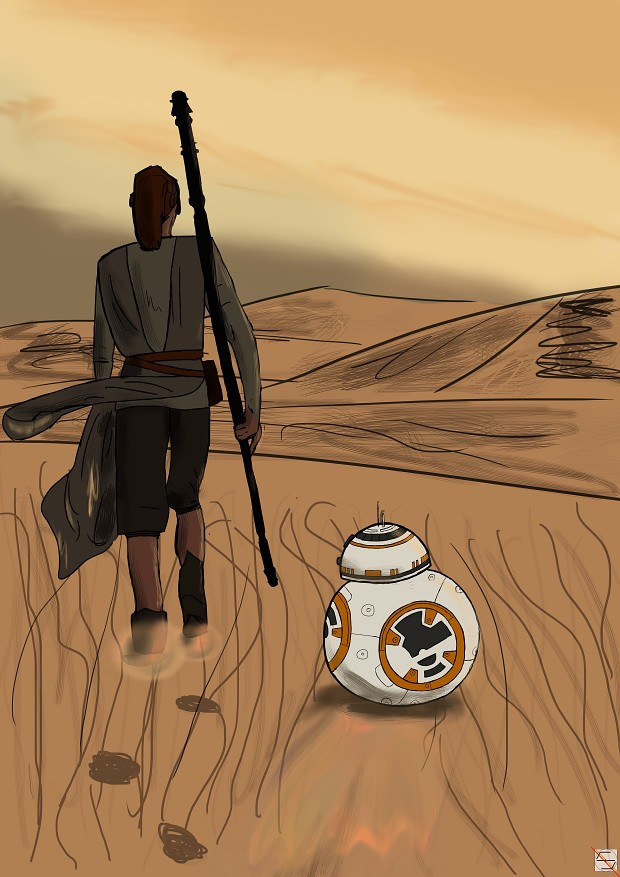 Star wars The Force Awakens - Rey and BB-8