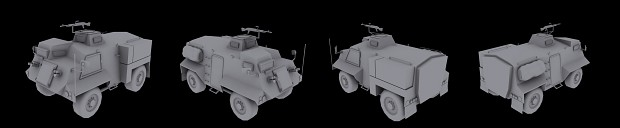 British Saxon Armored Personnel Carrier