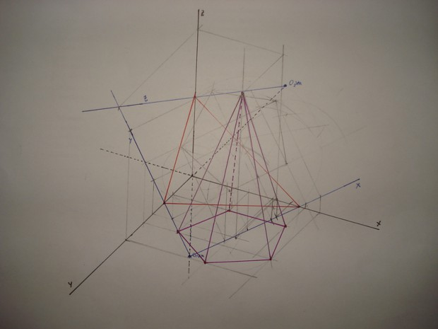 My first pyramid axonometric.