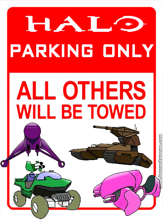 Halo Parking Only
