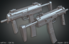 MP7A1 - Low poly