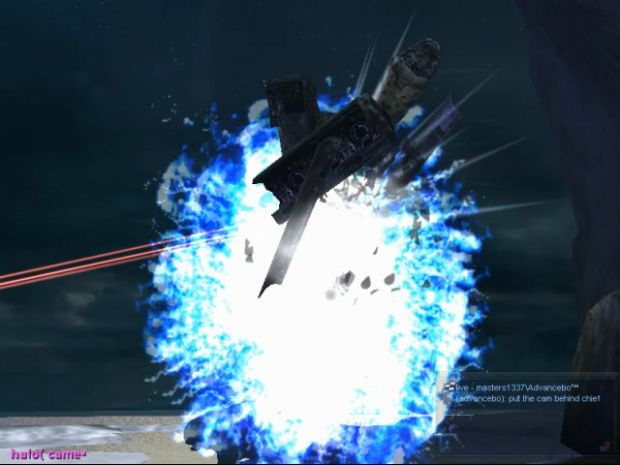 """Covenant """"Spirit"""" Dropship exploding"""