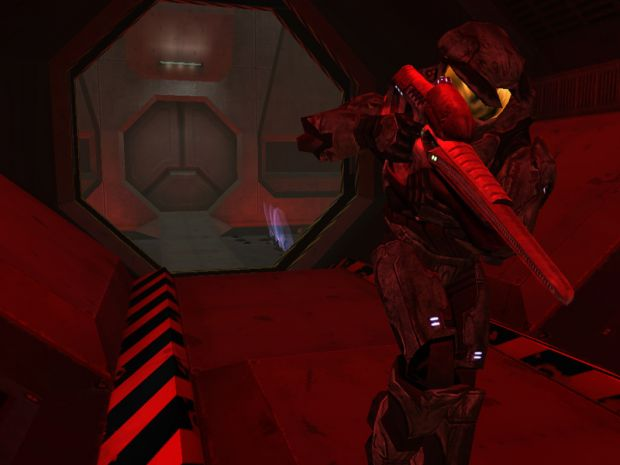 The Maw with MC holding a Covenant Carbine