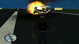 Gta:Sa Blowing Up Bttf Delorean In Reverse VCS