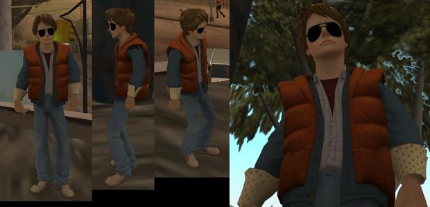 Gta Sa 1986 Marty With Sunglasses