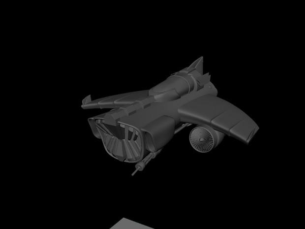 Space Jet (model finished)