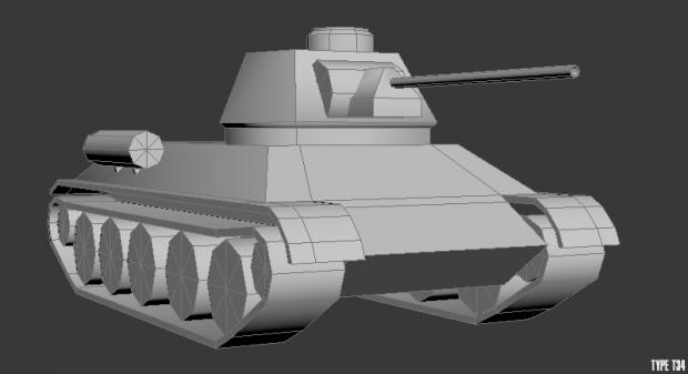 Type T34 Lowpoly.