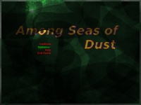 Among Seas of Dust menu?