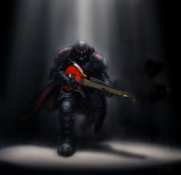 Black Hand Guitarist