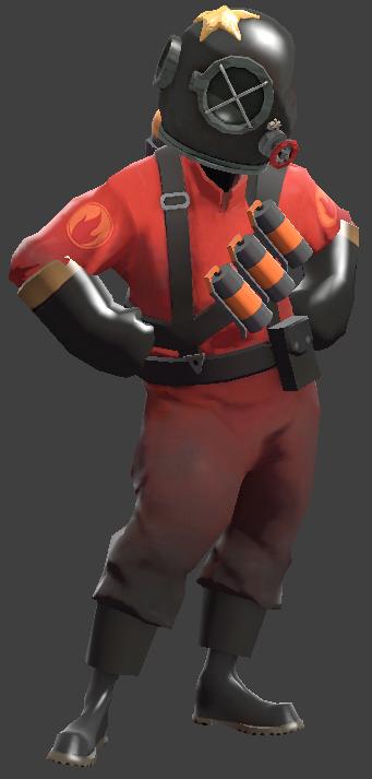 pyro - tf2 dive helmet