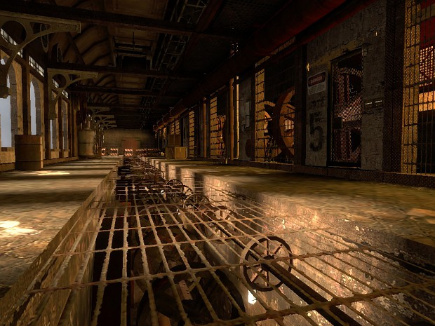 Steampunk Hallway