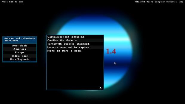 New TMOD 1.0 screens.