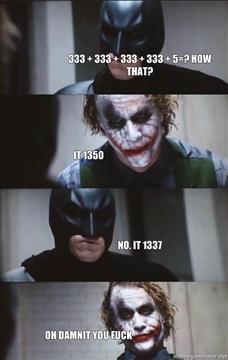 How do?  ...you failed!