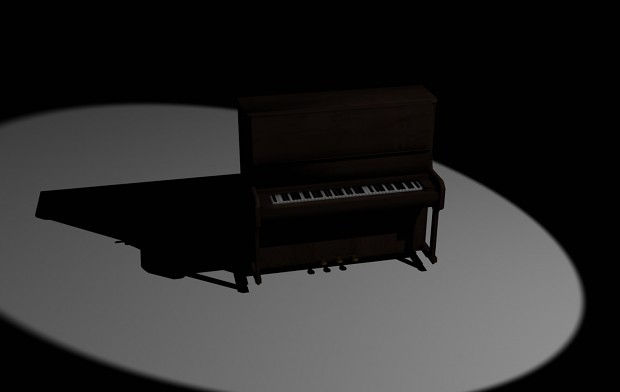 Piano Render 3ds max