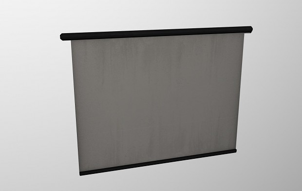 Projection screen 3ds max render