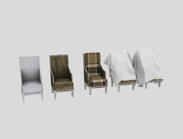 Couch with cloth