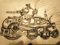 steampunk light tank
