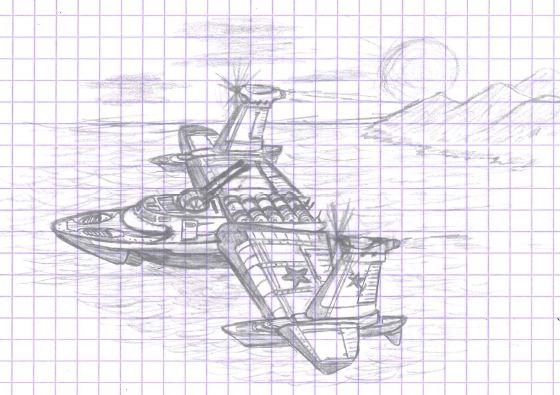 Manta Ekranoplane fan concept