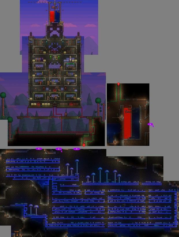 My last Terraria home from v1.1.2