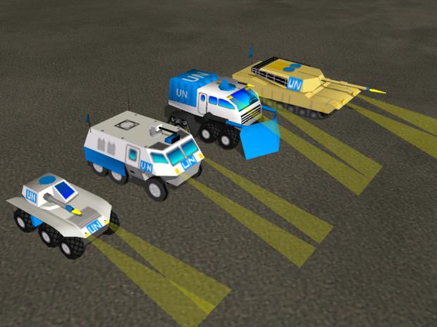 UN vehicles for Dark Star so far.