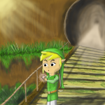 Toon Link Discovering the Ocarina