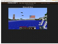 Minecraft view/USA flag :D