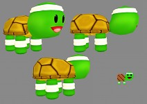 Hurdle turtle 3D