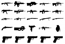 Guns guns and more guns