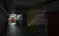 Hospital Corridor at Night