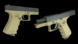 WIP Glock 19 High Poly