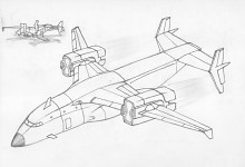 My An-250 VTOL draw